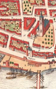 historische plattegrond rond 1600